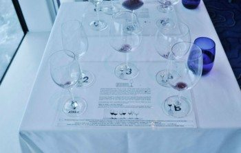 The glasses were arranged. We put the same wine in different glasses and you can't believe the difference in taste and smell!